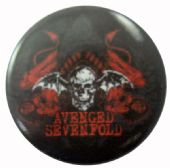 Avenged Sevenfold - 'Deathbat Red' Button Badge